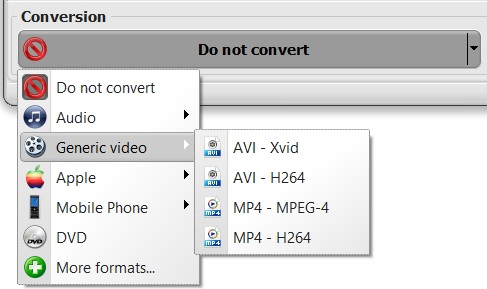 downloader conversion profiles
